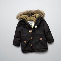 lined parka with hood - Coats - Baby boy (3-36 months) - Kids - ZARA United States
