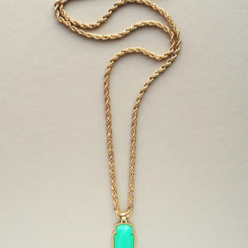 Mint Chalcedony Pendant Necklace