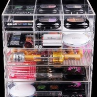 Home Decoration High Quality Fashional 5 Drawer Clear Acrylic Makeup Organizer