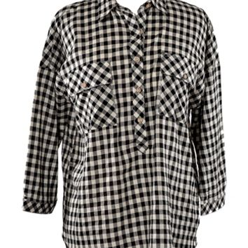 Checked Out Shirt - Black