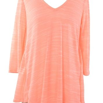 Neon Light Top - Coral