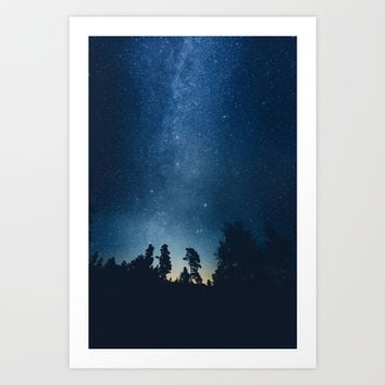 Follow the stars Art Print by HappyMelvin