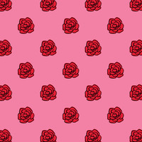Valentine's Day Red Roses Art Print by Kat Mun