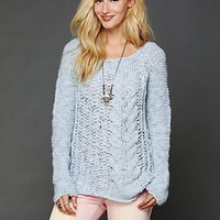 Free People Chunky Cable Pullover