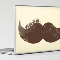 Mustache Ride Laptop & iPad Skin by Jonah Block | Society6