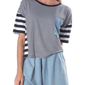 Venturing Out Stripes Crop Top