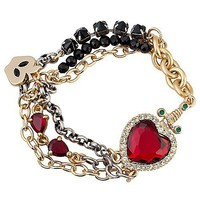 Disney Villains Crystal Evil Queen&#x27;s Heart Box Snow White Bracelet by Disney Couture | Disney Store