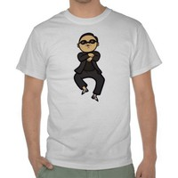 Oppa Gangnam Style Dance T Shirt from Zazzle.com