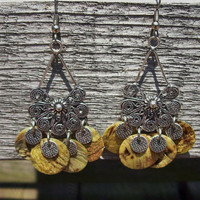 Belly Dance - Gypsy Fan Chandelier Earrings