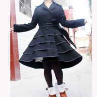 wool coat---wool dress woolen coat lolita coat wool jacket cashmere coat long jacket long coat wool dress winter jacket