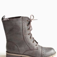 Steady Combat Boots - $45.00: ThreadSence, Women's Indie & Bohemian Clothing, Dresses, & Accessories