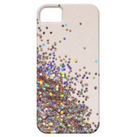 Loose Rainbow Glitter iPhone Case iPhone 5 Cover from Zazzle.com