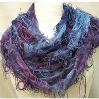 NEW Butterfly Infinity scarf- vintage feel with delicate colors fluttering  Gifts under 20 stocking stuffers Catherine Cole  scarves