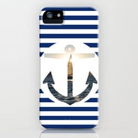 Nautical Anchor iPhone Case by DAVIDCAMERONAVERY | Society6