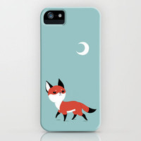 Moon Fox iPhone Case by Freeminds | Society6