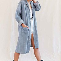 Urban Renewal Vintage Railroad Stripe Maxi Coat-