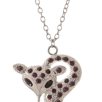 Foxy Femme Necklace in Purple