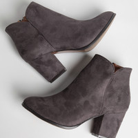 Time To Dance Ankle Boots In Gray