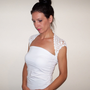 WHITE Lace WEDDING BOLERO / Bridal Shrug / Lace Bridal Bolero / Crochet Wedding Shrug / White Bolero Jacket