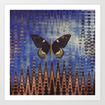 butterfly city Art Print by PhotoStories