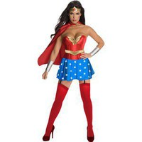 New sexy Wonder Woman adult Medium costume outfit cosplay ships free from USA
