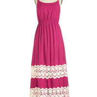 ModCloth Boho Long Spaghetti Straps Maxi Days Flow By Dress