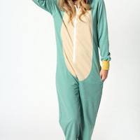 Phoebe Frog Hooded Animal Onesuit