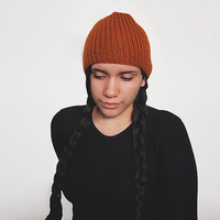 the torse beanie in rust or your color of choice
