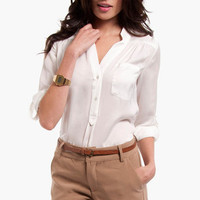 Sandra Pocket Blouse $30