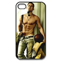 ON SALE iphone 4 case Channing Tatum shirtless Apple iPhone 4/4s Case (Black / white Color Case)