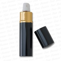 Lipstick Case Hidden Pepper Spray - Black & Gold