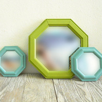 octagonal mirror set by NellieFellow on Etsy