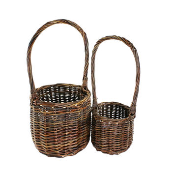 Harlow Tall Baskets with Handles - Set of 2