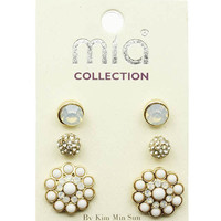 Aphrodite Triple Studs Earring Set