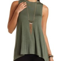 Tunic-Length Swing Muscle Tee by Charlotte Russe
