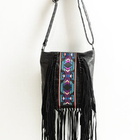 Neon Sketch Fringe Bag - $40.00: ThreadSence, Women's Indie & Bohemian Clothing, Dresses, & Accessories