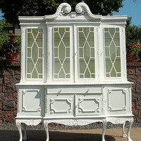 OMG CHIC White Beach Cottage Shabby Cabinet Cupboard by picks4u