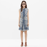Silk Journey Shirtdress in Porcelain Floral