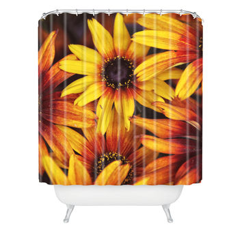 Shannon Clark Sunshine Petals Shower Curtain