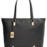 Women's Lauren Ralph Lauren Leather Tote