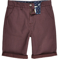 River Island Boys red star print shorts