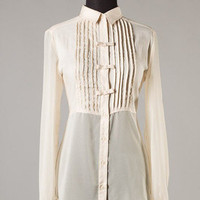 Peek-a-Bow Blouse in Ivory -  $36.00 | Daily Chic Tops | International Shipping