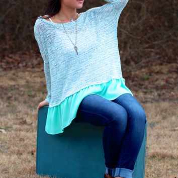 Remember Me Sweater {Mint}