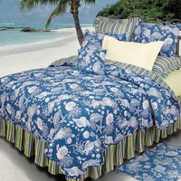 Blue Shells Deluxe Bedding Set