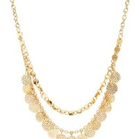 Layered Coin Collar Necklace by Charlotte Russe - Gold