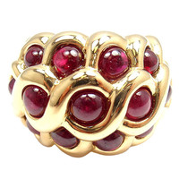 1STDIBS.COM Jewelry & Watches - VAN CLEEF & ARPELS - VAN CLEEF & ARPELS 8.09CT Ruby Yellow Gold Ring - FORTROVE