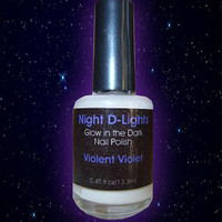 VIOLENT VIOLET Glow in the Dark Nail Polish - Incredibly Cool