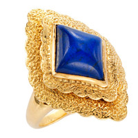 1STDIBS.COM Jewelry & Watches - VAN CLEEF & ARPELS  Lapis and Gold Ring - FD