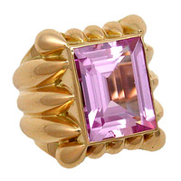 1STDIBS.COM Jewelry & Watches - French Morganite Cocktail Ring - Neil Marrs