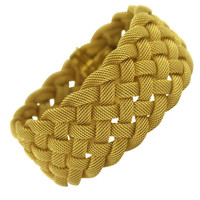 1STDIBS.COM Jewelry & Watches - Tiffany & Co. - TIFFANY & CO. Woven Gold Mesh Bracelet - Benchmark of Palm Beach